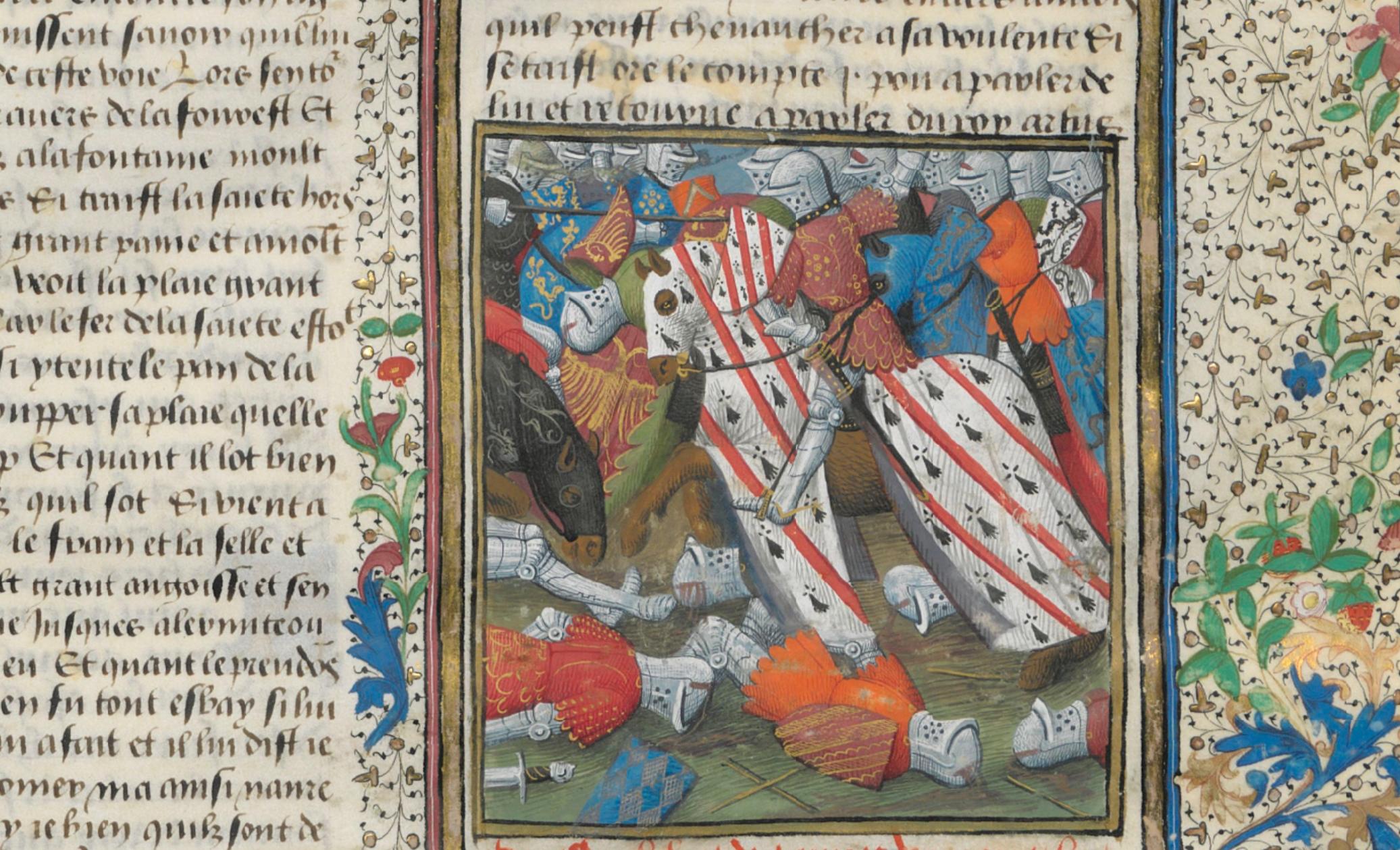 BNF - Français 116 - Lancelot en prose - f.694r - Bohort