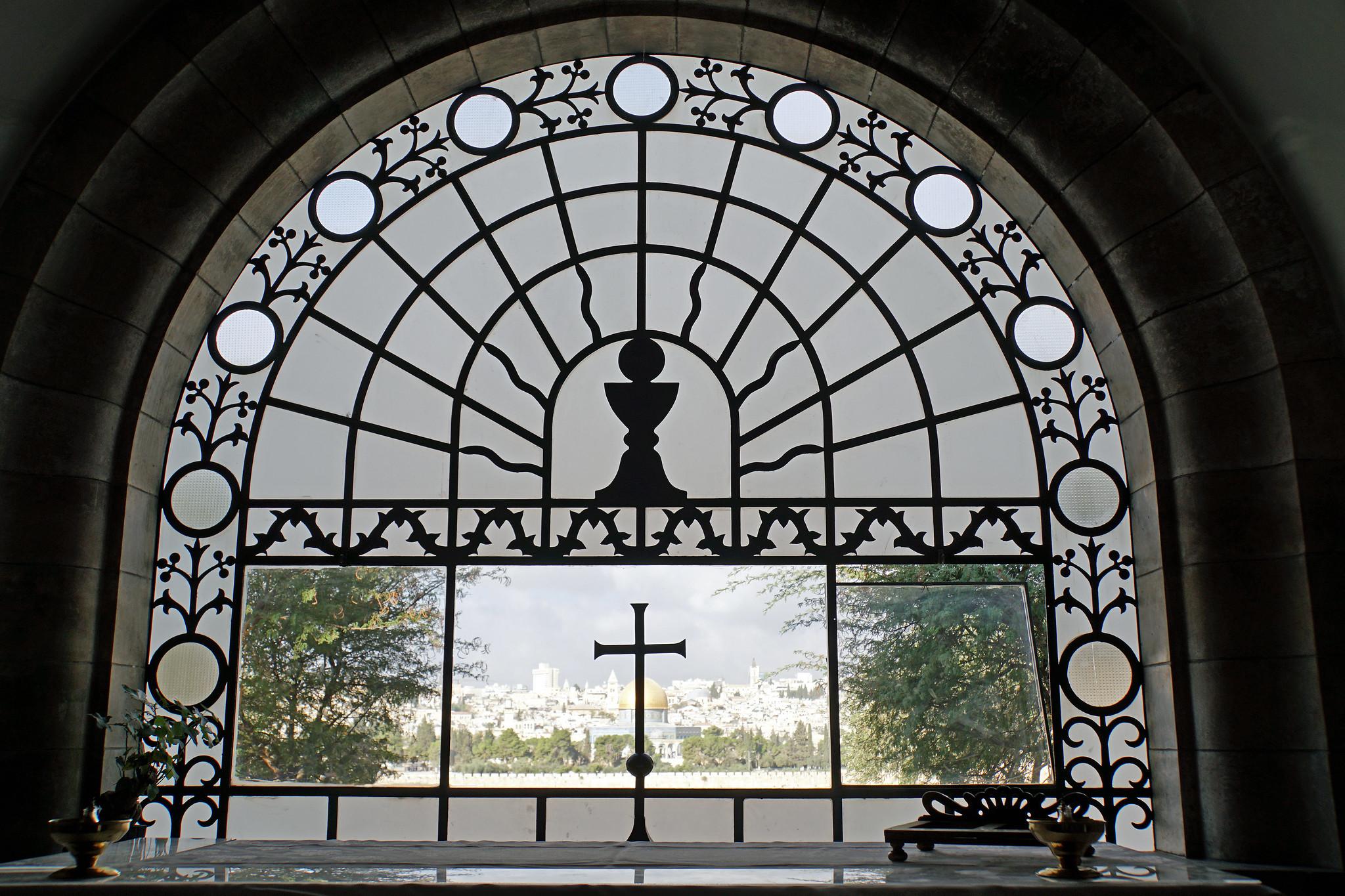 Dominus Flevit Window
