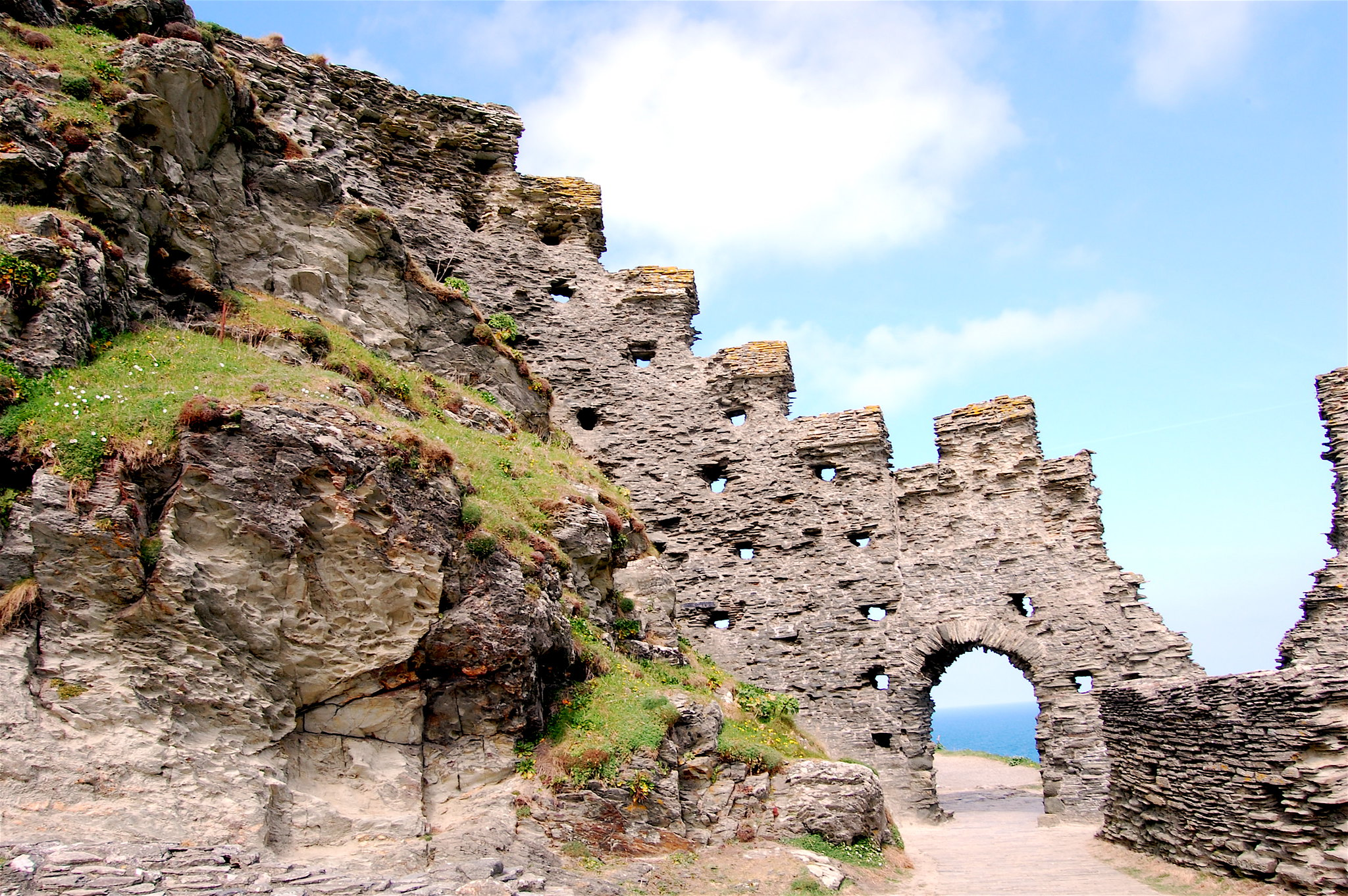 Tintagel Castle, galerie Flickr de Chris Bertram