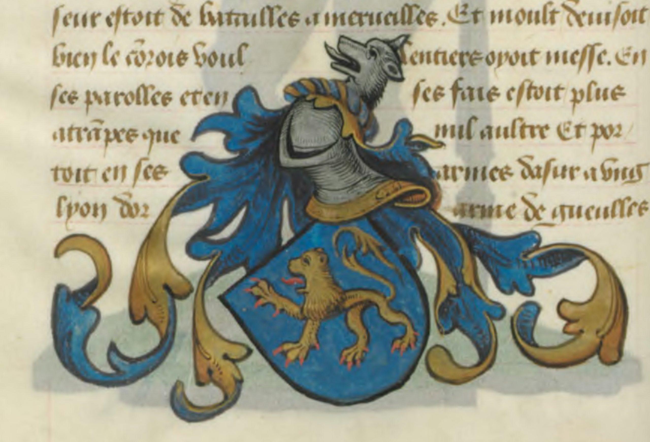 Blason d'Yvain le Chevalier au Lion
